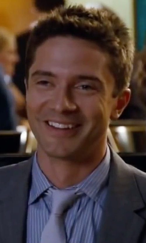 Topher Grace with Dockers King Street Solid Tie in Valentine's Day