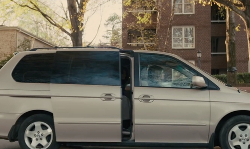 Nat Wolff with Honda Odyssey in Paper Towns