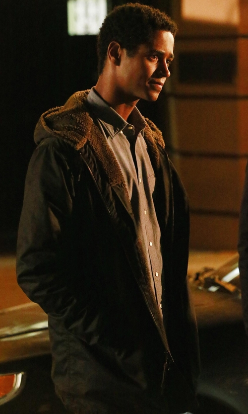 Alfred Enoch with Carhartt Sherpa Lined Jacket in How To Get Away With Murder