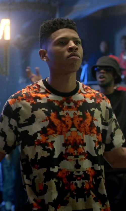Bryshere Y. Gray with Givenchy Columbian Camo-Print Tee in Empire