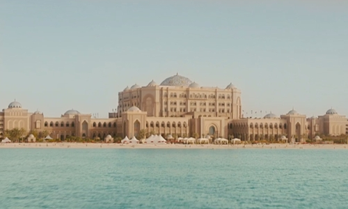Vin Diesel with Emirates Palace Abu Dhabi, United Arab Emirates in Furious 7