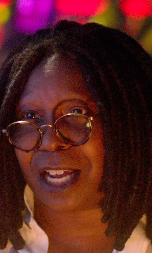 Whoopi Goldberg with Giorgio Armani Round Eyeglasses in Top Five