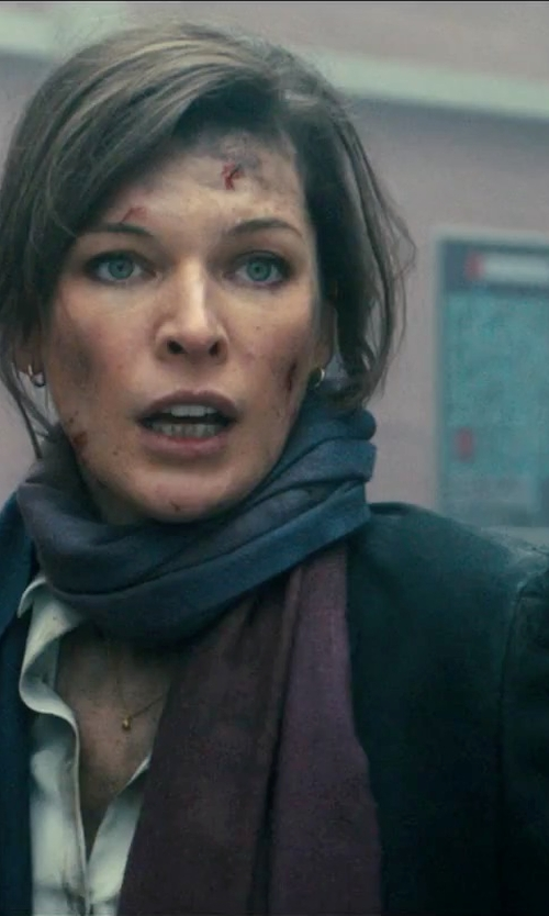 Milla Jovovich with Goyo Oblong Scarf in Survivor