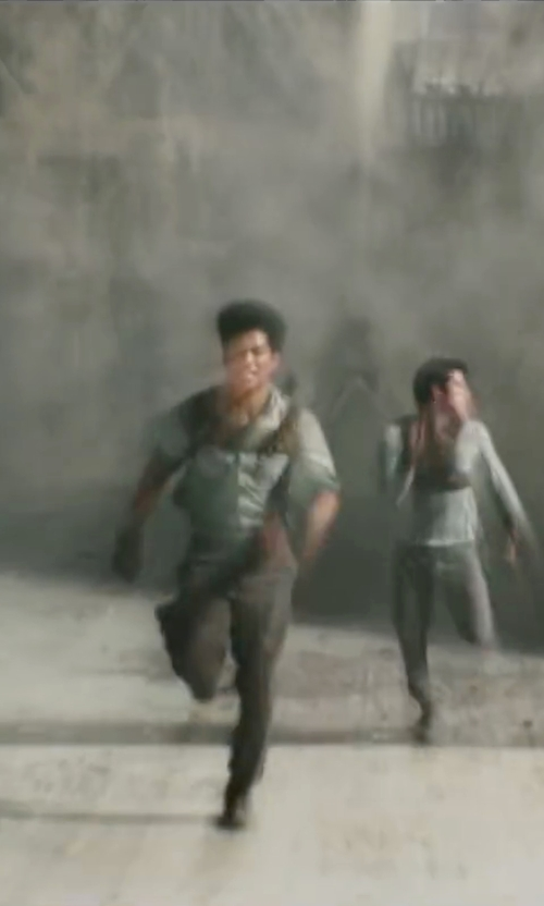 Ki Hong Lee with Christine Bieselin Clark and Simonetta Mariano (Costume Designers) Custom Made Leather Wrist Wrap (Minho) in Maze Runner: The Scorch Trials
