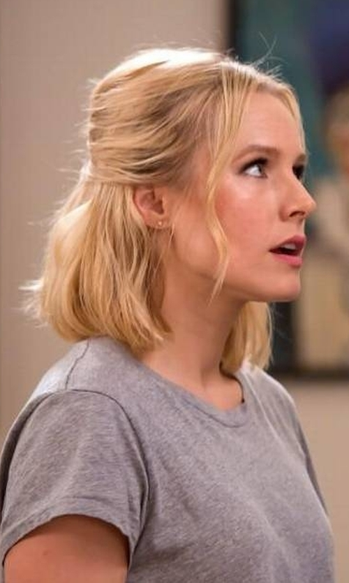 Kristen Bell with Vince Boy-Fit Jersey Tee in The Good Place