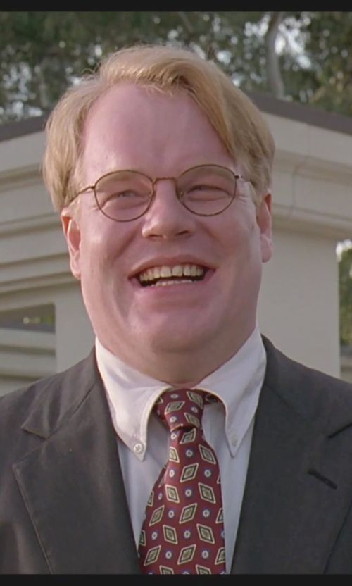 Philip Seymour Hoffman with Lauren Ralph Lauren Foulard Neat Tie in The Big Lebowski