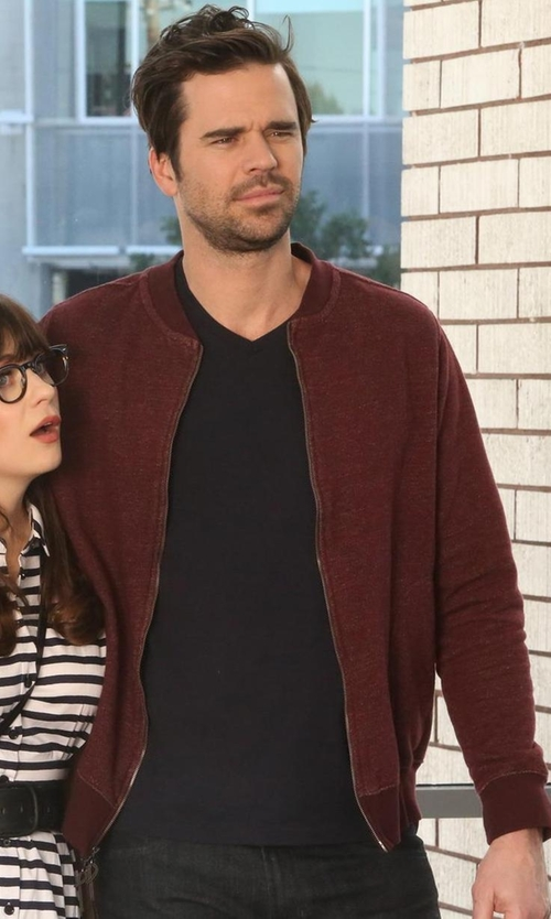 David Walton with Asos Bomber Jacket in New Girl