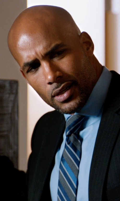 Boris Kodjoe with Fairfax Diagonal-Stripe Neck Tie in Addicted