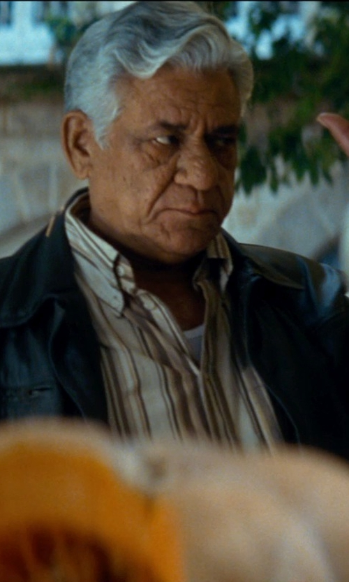 Om Puri with Vince Camuto Modern Fit Stripe Dress Shirt in The Hundred-Foot Journey