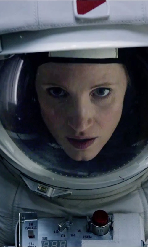 Jessica Chastain with Janty Yates (Costume Designer) Custom Made White Astronaut Suit in The Martian