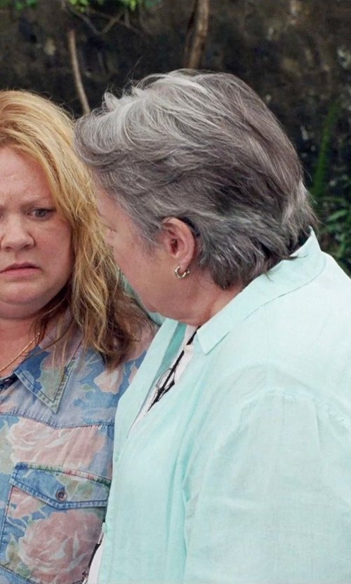 Kathy Bates with Nordstrom Hoop Clip Earrings in Tammy