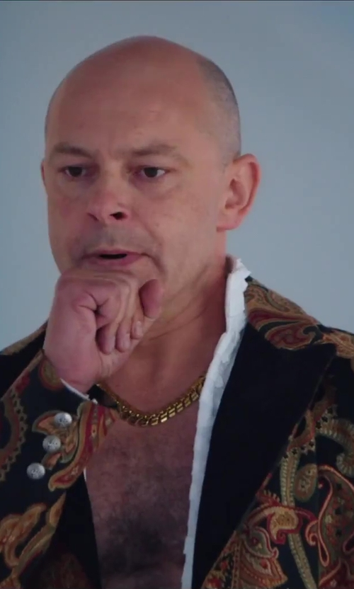 Rob Corddry with Front Jewelers Mens 10k Yellow Gold Mariner Chain Necklace in Hot Tub Time Machine 2