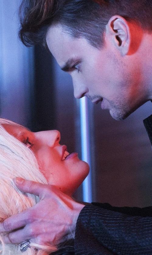 Matt Bomer with David Yurman Pavé Gray Sapphire Signet Ring in American Horror Story