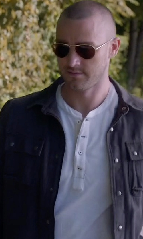 Jake McLaughlin with Calvin Klein Denim Coated Jacket in Quantico