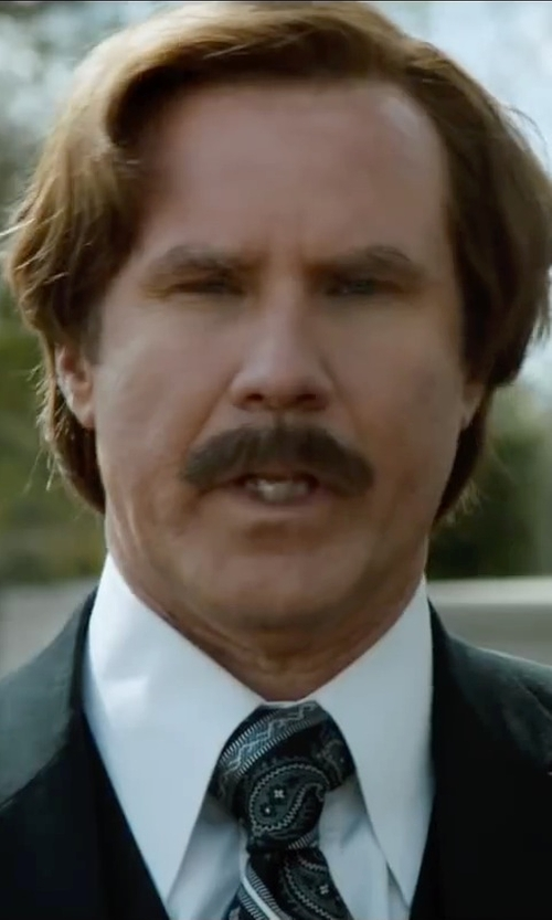 Will Ferrell with Frank & Eileen Paul Woven Shirt in Anchorman 2: The Legend Continues