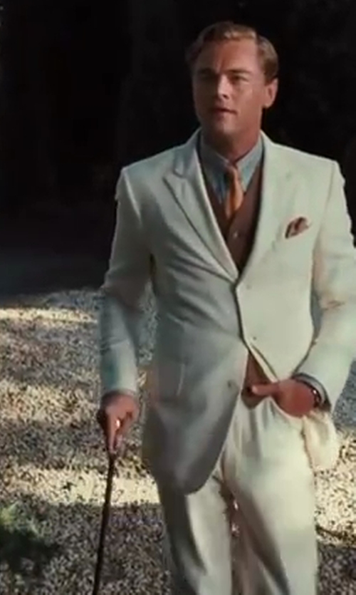 Leonardo DiCaprio with Catherine Martin (Costume Designer) and Brooks Brothers (Tailor) Greyhound Walking Stick in The Great Gatsby