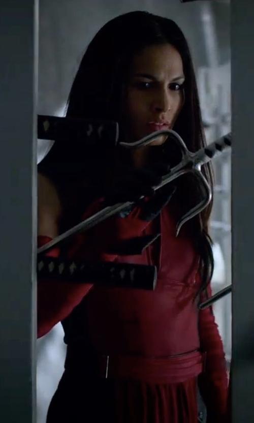 Elodie Yung with Stephanie Maslansky (Costume Designer) Custom Made Elektra Costume in Marvel's The Defenders