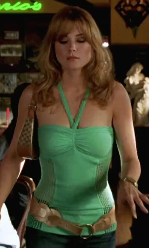 Alexandra Breckinridge with Trendy Fashion Jewelry Elastic Fashion Belt in She's The Man