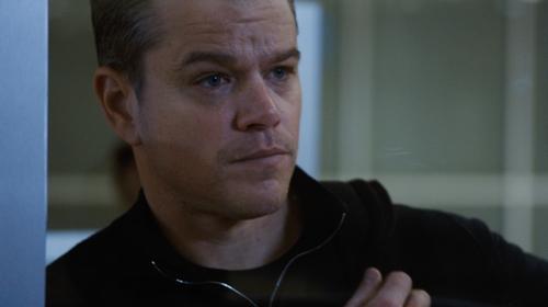 Matt Damon with American Apparel Fine Jersey Crewneck T-Shirt in Jason Bourne