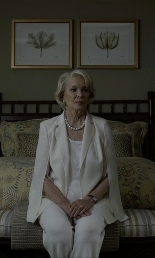 Jayne Atkinson with Christina Design London Leather Strap Watch in House of Cards