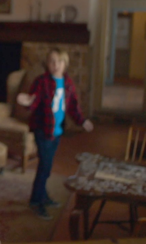 Ed Oxenbould with Vans Kids Checker Fill II Shirt in The Visit