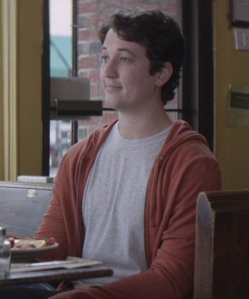 Miles Teller with James Perse Crewneck T-Shirt in That Awkward Moment