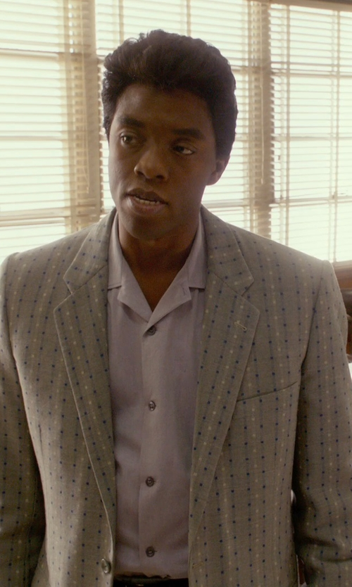 Chadwick Boseman with Dsquared2 Dotted Blazer in Get On Up