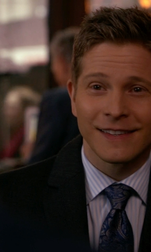 Matt Czuchry with Paul Smith Cotton-Blend Twill Suit Jacket in The Good Wife