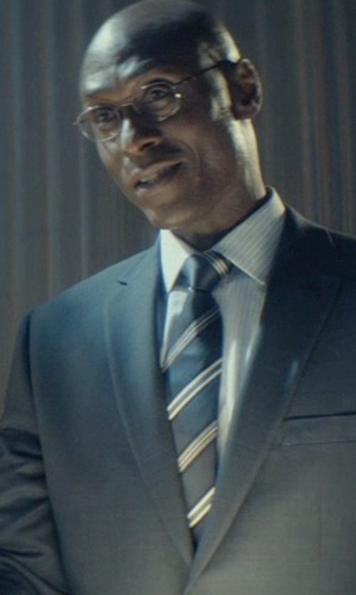 Lance Reddick with Dan Smith Stripes Skinny Tie in John Wick