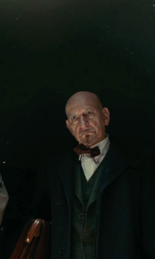 Ben Kingsley with Frye 'Logan' Leather Buckle Briefcase in Shutter Island