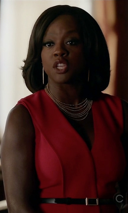 Viola Davis with Jason Wu	 V-Neck Crepe Wrap Dress in How To Get Away With Murder