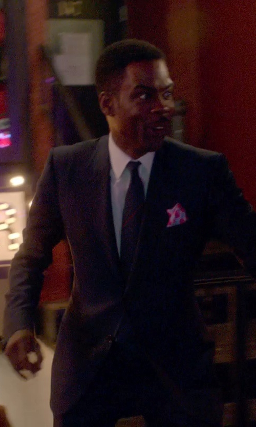 Chris Rock with Armani Collezioni Solid Oxford Dress Shirt in Top Five