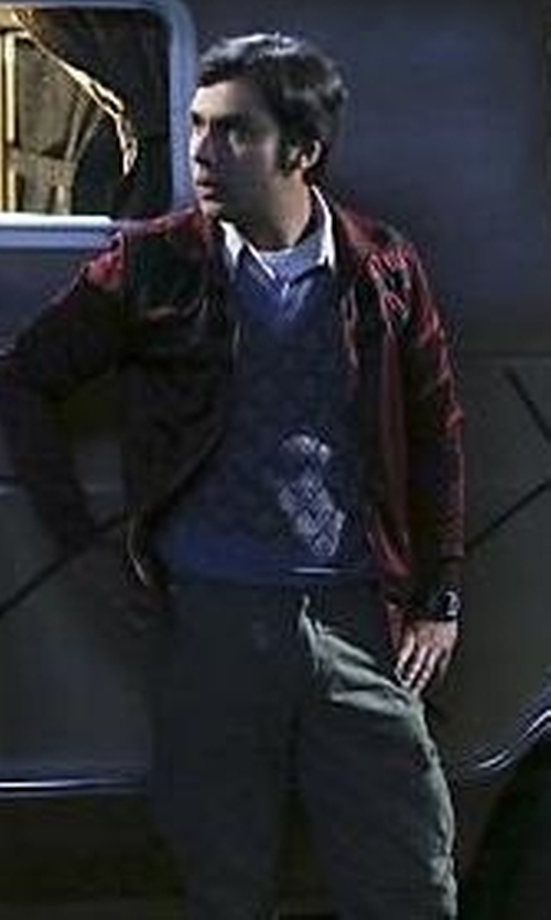 Kunal Nayyar with Golf Knickers Argyle Sweater Vest in The Big Bang Theory