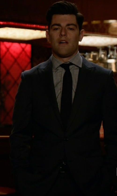 Max Greenfield with Armani Collezioni Classic Two Piece Suit in New Girl
