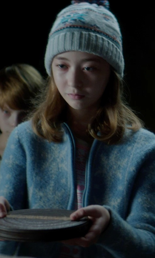 Laila Haley with Columbia Benton Springs II Printed Fleece Jacket in Sinister 2