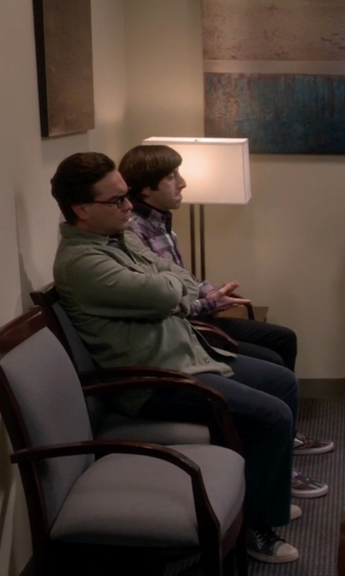 Johnny Galecki with Converse Jack Purcell Remastered Sneakers in The Big Bang Theory