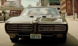 Jamie Foxx with Pontiac 1969 GTO Coupe in Sleepless