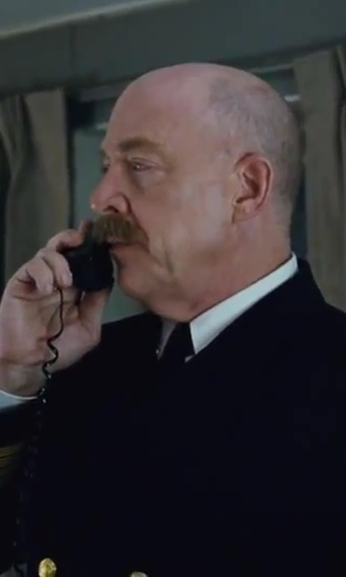 J.K. Simmons with Eton Woven Silk Tie in Contraband