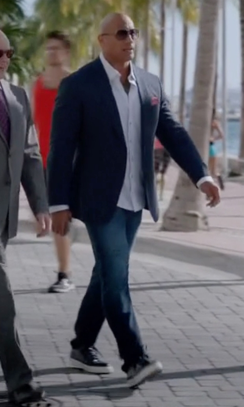 Dwayne Johnson with Givenchy Knots High Top Leather Sneakers in Ballers