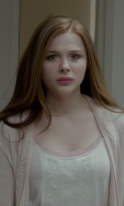 Chloë Grace Moretz with Knitted & Knotted Cosette Cardigan in If I Stay