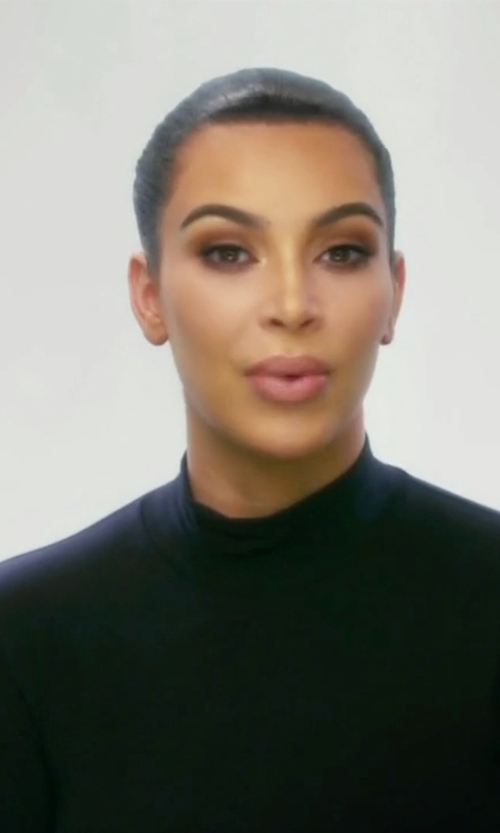 Kim Kardashian West with Michael Kors Collection Long-Sleeve Turtleneck Top in Keeping Up With The Kardashians