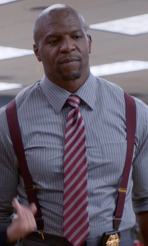 Terry Crews with Paul Smith London Soho-Fit Single-Cuff Striped Shirt in Brooklyn Nine-Nine