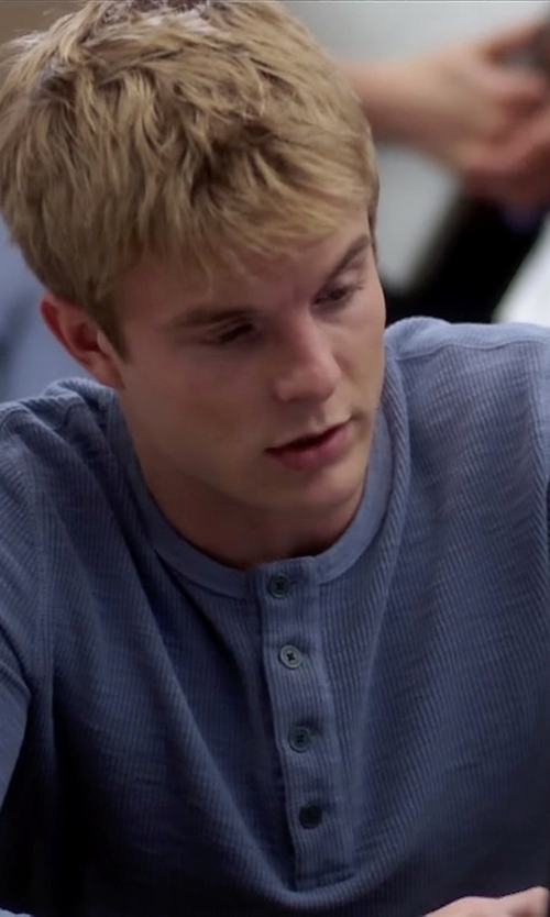 Graham Rogers with Robert Barakett 'Horace' Long Sleeve Cotton Henley Shirt in Quantico