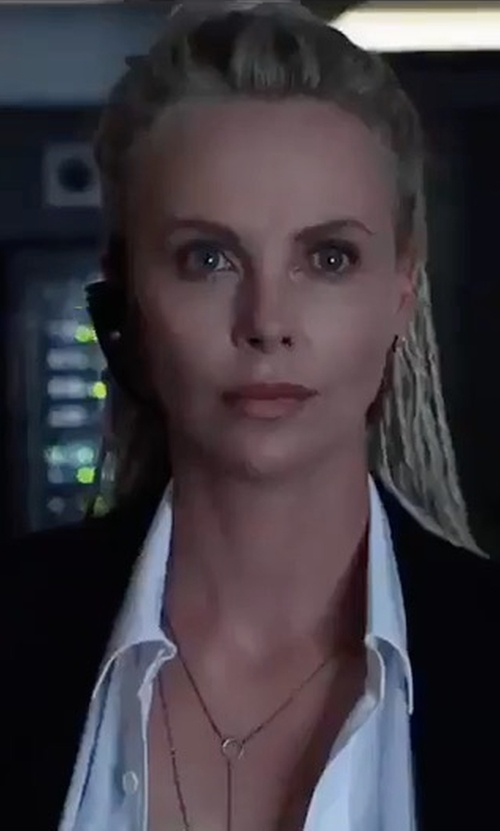 Charlize Theron with Muubaa Original Moto Jacket in The Fate of the Furious
