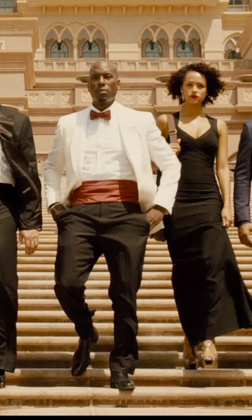 Tyrese Gibson with Jos. A. Bank Tie and Cummerbund Set in Furious 7