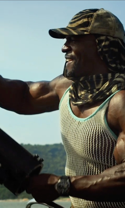 Terry Crews with A.P.C. Camouflage Baseball Cap in The Expendables 3