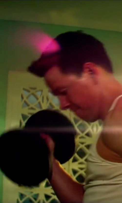 Mark Wahlberg with Power Systems Elite Urethane Dumbbell in Pain & Gain