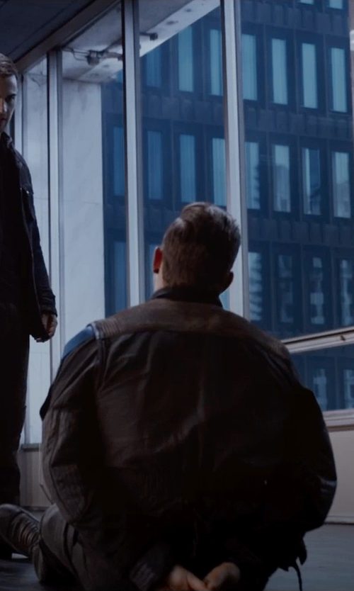 Jai Courtney with John Varvatos Bonham Lace Boot Combat Boots in The Divergent Series: Insurgent