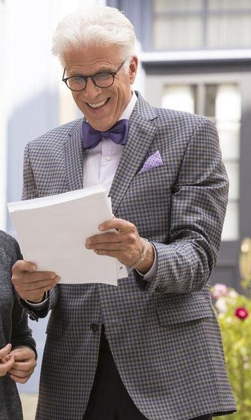 Ted Danson with Canali Kei Check Classic Fit Sport Coat in The Good Place