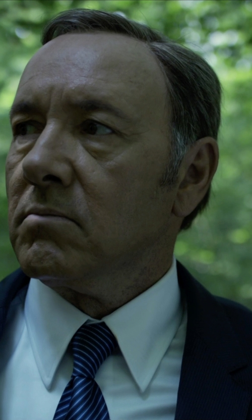 Kevin Spacey with Hugo Boss James/Sharp Trim Fit Stretch Wool Suit in House of Cards